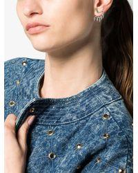 Yvonne Léon - Metallic 18k White Gold 5 Creoles Diamond Earring - Lyst