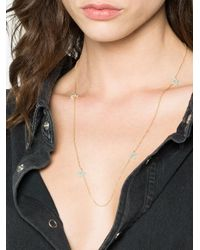 Rosa De La Cruz - Metallic 18k Gold Necklace With Turquoise Stars - Lyst