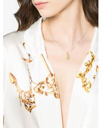 Lizzie Mandler - Gray Gold Name Tag Necklace - Lyst