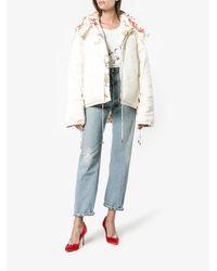Rosie Assoulin - Multicolor Reversible Floral Print Puffer Jacket - Lyst
