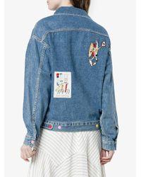 MIRA MIKATI - Blue Venice Beach Patch Denim Jacket - Lyst