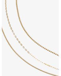 Rosa De La Cruz - Metallic Three Tiered Necklace - Lyst