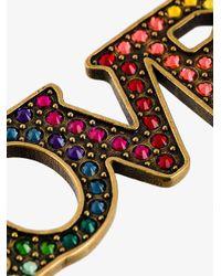 Gucci - Metallic Love Palm Bracelet - Lyst