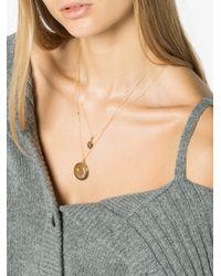 Sasha Samuel - Metallic 14k Gold Mini Locket With Diamond - Lyst