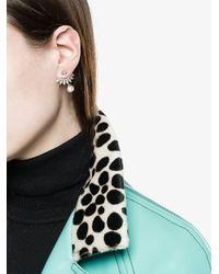 Yvonne Léon - White Gold Diamond Triangle Stud Earring - Lyst