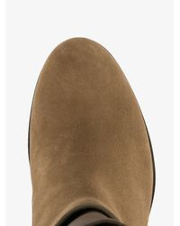 Jimmy Choo - Multicolor Major Flat Suede & Leather Boots - Lyst