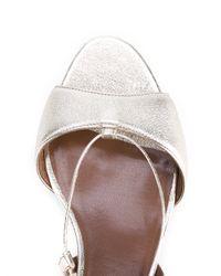 Tabitha Simmons - Lori Metallic Leather Sandals - Lyst