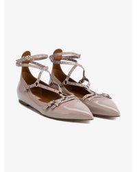Valentino - Black Lovelatch Patent Leather Ballet Flats - Lyst