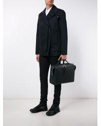 Fendi - Black Selleria Messenger Leather Bag for Men - Lyst