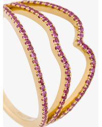Rosa De La Cruz - Metallic Lips Diamond Ring - Lyst