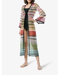 Missoni - White Zigzag Lamé Long Beach Coverall - Lyst