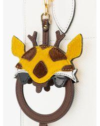Miu Miu - Brown Leather Giraffe Bag Charm - Lyst