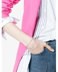 Rosa De La Cruz - Metallic Diamond Pendant Bracelet - Lyst