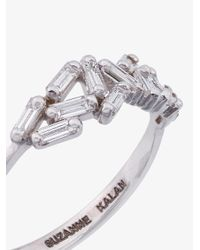 Suzanne Kalan - 18k White Gold And Diamond Chevron Band - Lyst