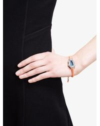 Kimberly Mcdonald - Blue 18kt White Gold, Dark Geode And Macramé Bracelet - Lyst