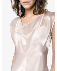 ADEAM - Pink Panelled Cowl Neck Dress - Lyst