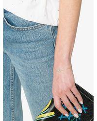 Rosa De La Cruz - Gray 18k Gold Bracelet With Turquoise Peace Charm - Lyst