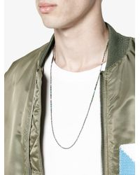 M. Cohen - Blue Oxidised Multi-bead Necklace for Men - Lyst