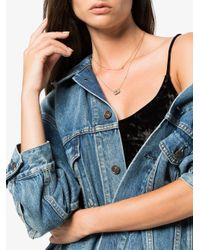 SHAY - Metallic 18k Rose Gold Diamond Heart Necklace - Lyst