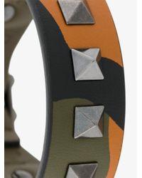 Valentino - Green Rockstud Camouflage Bracelet for Men - Lyst