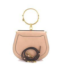Chloé | Natural Bracelet Bag Nile Leather Beige | Lyst