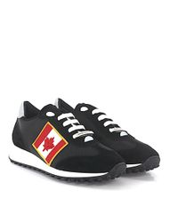 DSquared² | 2 Sneaker New Runner Suede Hightech-jersey Black Canadian Flag Patch for Men | Lyst