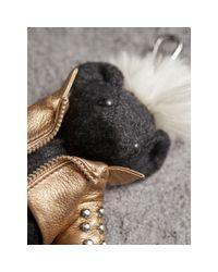 Burberry - Multicolor The Punk Thomas Bear Charm - Lyst