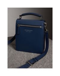 Burberry - Blue The Small Dk88 Satchel for Men - Lyst