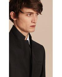 Burberry - Modern Fit Wool Part-canvas Suit Black for Men - Lyst