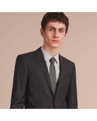 Burberry - Gray Modern Cut Polka Dot Silk Tie Charcoal for Men - Lyst