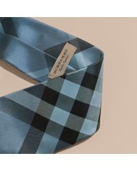 Burberry | Modern Cut Check Jacquard Silk Tie Hydrangea Blue for Men | Lyst