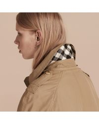 Burberry | Natural Hooded Cotton Blend Parka With Detachable Warmer Canvas | Lyst