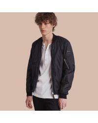 Burberry | Black Packaway Bomber Jacket for Men | Lyst