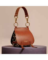 d3e90dbac9cb Women's Brown The Bridle Leopard-Print Calfskin And Leather Shoulder Bag