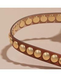 Burberry - Multicolor Double-wrap Riveted Bridle Leather Bracelet Tan - Lyst
