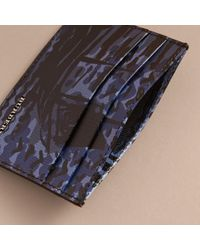 Burberry | Blue British Seaside Print London Leather Card Case Bright Navy for Men | Lyst
