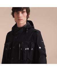 Burberry | Black Hooded Technical Field Jacket | Lyst