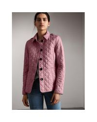 Burberry | Pink Diamond Quilted Jacket Vintage Rose | Lyst
