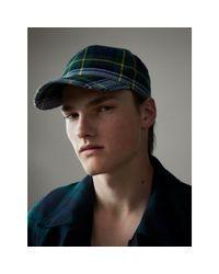 Burberry - Multicolor Tartan Baseball Cap for Men - Lyst