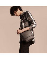 Burberry - Brown London Check Crossbody Bag Chocolate/black for Men - Lyst
