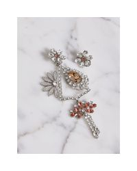 Burberry - Multicolor Crystal Daisy Chandelier Earring And Stud Set - Lyst