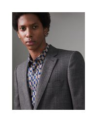 Burberry - Gray Slim Fit English Pinstripe Wool Suit for Men - Lyst