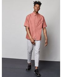 Burton - Fōr Runsa Pink Wide Fit Shirt for Men - Lyst