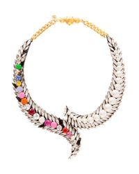 Shourouk | Metallic Piuma Coloured Necklace | Lyst