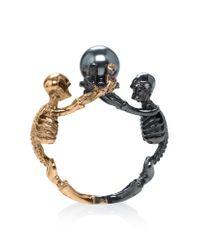 Alexander McQueen | Multicolor Two-tone Skeleton Ring | Lyst