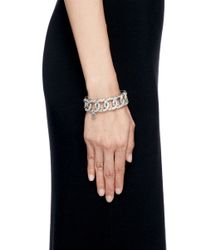Philippe Audibert - Pink 'princess' Crystal Chain Link Elastic Bracelet - Lyst