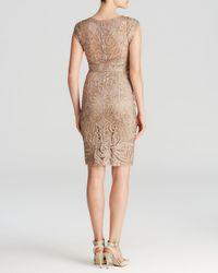 Sue Wong - Natural Dress - V-neck Soutache - Lyst
