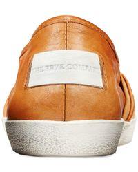 Frye | Orange Dylan Slip-on Flats | Lyst