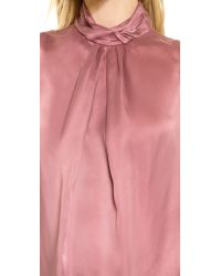 Carven - Satin Top - Pink - Lyst