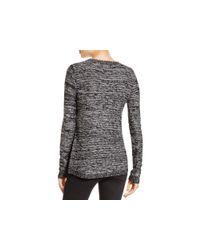 Aqua - Black Asymmetric Zip Crewneck Sweater - Lyst